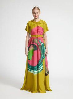 Pyörähdys-mekko (vihreä, pinkki, turkoosi) |Vaatteet, Naiset, Mekot ja hameet | Marimekko