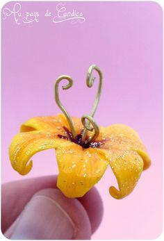 La fleur magique de Raiponce (en fimo)