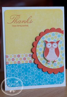 Supre cute thank you card (owl maybe from WC?)