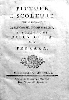 Barotti pitture e sculture di Ferrara, edizione originale.