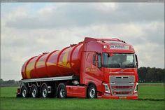 Volvo semi truck with tank