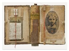 Irini Gonou 16 de abril · la veuve du vernay, 2009 old cover book, paper, fiber. 32x23cm