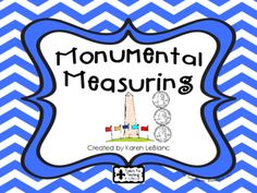 "MONUMENTAL MEASURING from kgl925 from kgl925 on TeachersNotebook.com (10 pages)  - Non-standard units of measurement, comparing data, ""I Can"" charts"