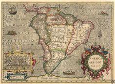 """America Meridionalis"" (South America), Gerardus Mercator - 1606"