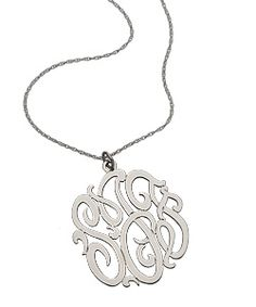Kind of a Flavor Flav-style version of the preppy monogram necklace.  Love.