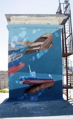 SatOne – Prisoners of The Sea (2) New Mural @ Varna, Bulgaria | Ozarts Etc