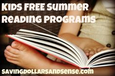 Large list of #FREE #Kids #Summer Reading Programs that help them earn books, pizza, ice cream and other great incentive just for reading this summer! savingdollarsandsense.com