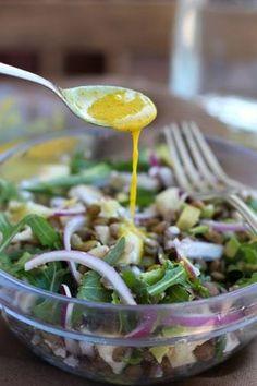 Recetas de salsas Salad Recipes, Vegan Recipes, Cooking Recipes, Vegan Food, Salad Bar, Soup And Salad, Sauces, Yummy Veggie, Dehydrated Food