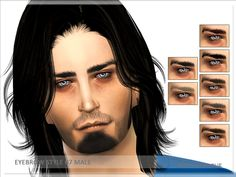 The Sims Resource: Eyebrow Style 07 by Serpentogue • Sims 4 Downloads
