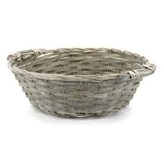 Willow Shallow Round Basket 41TDx30BDx13.5Hcm - Grey Wash #Floral #Baskets #Round Basket #Oceans Floral Round Basket, Flower Bag, Floral Supplies, Box Bag, Shallow, Gift Packaging, Gift Bags, Wicker, Decorative Bowls