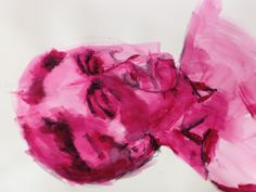 Acrylic with stablilo pencil in paper by Mary-Jean Dudok de Wit.