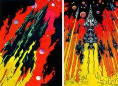 Dark Roasted Blend: Epic 1970s French Space Comic Art