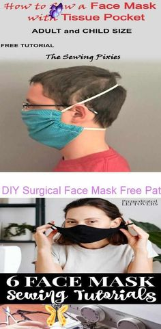 diy face mask sewing pattern DIY Surgical Face Mask Free Pattern - Agnes Creates 6 Face Mask Sewing Patterns and 6 DIY No-Sew Mask Tutorials<br>
