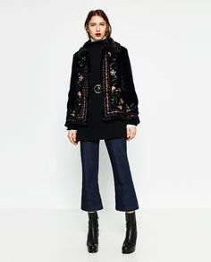 Gotta love it.  Zara is giving my faux fur envy AND embroidery in one coat!?!?