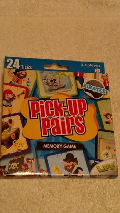 lpf pick up pairs memory card game pirates new