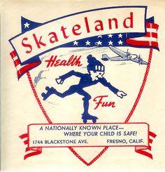 Skateland Roller Rink - Fresno, California by Vintage Roadside, Roller Skating Rink, Roller Rink, Fresno California, Vintage California, Central California, Roller Skating Pictures, Boogie Wonderland, Vintage Magazine, Vintage Advertisements