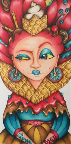 La reina de dulces #queen #candy #painting #portfolio #myartwork #ilustracionesinfantiles Princess Zelda, Queen, Painting, Fictional Characters, Art, Sweets, Art Background, Show Queen, Painting Art