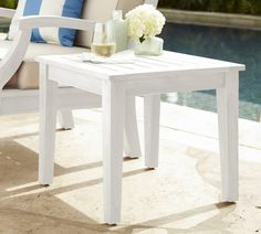 Hampstead Painted Side Table - White