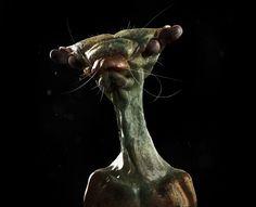 Insect Alien | Momogojira  #zbrush #alien #scifi #art #3d #3dart #creature