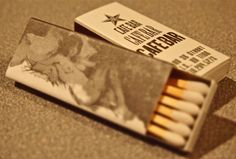 Cafe Bar, L.I.C. NY. USA BXQ1 10 stick box. printed on uncoated cover stock. Pic. by Joe Danon. www.GetMatches.com