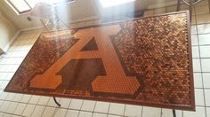 I built a beer pong table with pennies. (#QuickCrafter)