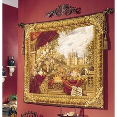 Tapestries, Ltd. Handwoven Castle Comforts Tapestry - 6637 / F26R1 / 364