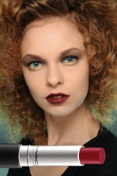 MOST POPULAR: BORDEAUX LIPS  Seen At: Badgley Mischka    Makeup artist Tom Pecheux painted lips with M.A.C Pro Smoked Purple Lipstic