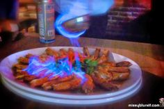 Drunken Tiger Prawns Flambe Desserts, Rib House, Come Dine With Me, Prawn Recipes, Bbq, Fire, Dining, Cooking, Ethnic Recipes