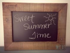 Handcrafted chalkboard made from upcycled pallet wood #handcrafted #upcycled #decor #gifts #pallet #chalkboard #chalk #teacher #event #classroom #wedding #rehearsal #reception #home #house #MyCRO #WM