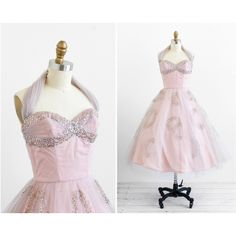 vintage 1950s dress / 50s dress / Sequins and Tulle Fairy Tale Ballerina Cupcake Dress ($386) found on Polyvore