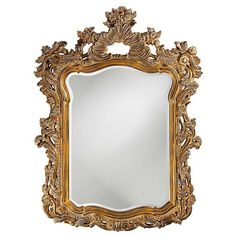 Howard Elliott Turner Mirror ($660) ❤ liked on Polyvore featuring home, home decor, mirrors, decor, scroll mirror, antique mirror, antique rectangular mirror, ornate mirror and howard elliott