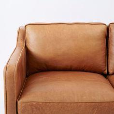 Hamilton Leather Sofa (206 cm) | west elm Australia Tan Leather Sofas, 3 Seater Leather Sofa, Leather Lounge, 1950s Furniture, Modern Furniture, Hamilton Sofa, West Elm, Sofa Design, Home Accessories