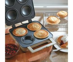 Breville Personal Pie Baker, BPI640XL Bake 4 individual homemade pies in 10 minutes with this electric pie baker.