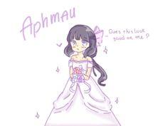 Aphmau The Bride ! by Efine Aphmau Youtube, Aarmau Fanart, Aphmau Characters, Aphmau Memes, Aphmau And Aaron, Le Cri, Blake Belladonna, Bad Friends, Anime Eyes