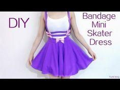 Back to School DIY: Pastel Mini Skater Dress - YouTube