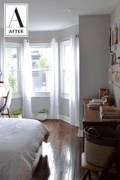Before & After: A Basic-Guy-Style Bedroom Goes Simple Scandi-Chic | Apartment Therapy