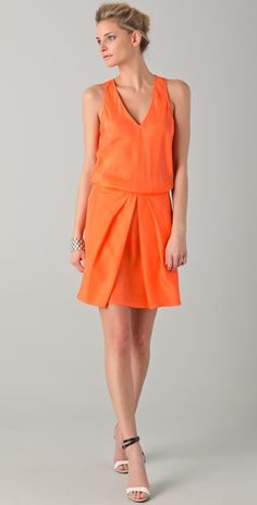 Tibi Sleeveless V Neck Dress $345.00