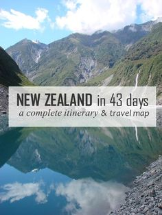 A complete itinerary and convenient travel map with campsites and highlights in New Zealand!