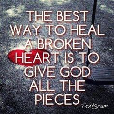 Give God all the pieces...