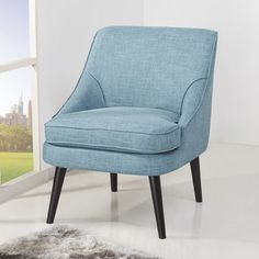 Bring a colorful, modern look to any room of your home with the Arlington accent Chair. With clean lines and a barrel back design, this chair offers an updated retro style that will accent any living space. Upholstered Accent Chairs, Chair Upholstery, Accent Furniture, Cool Chairs, Table And Chairs, Living Room Chairs, Living Room Furniture, Dining Room, Gold Accent Chair
