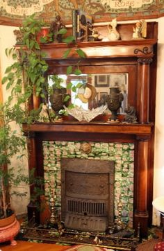 antique fireplace photos - Google Search