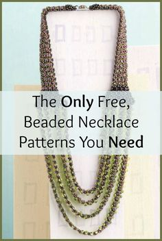 If you like necklaces, then you'll LOVE these 7 FREE beaded necklace patterns that use different beading techniques. #necklaces #beading #DIY