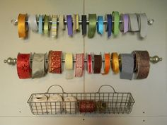 Ideas for Storing Ribbon - Organize and Decorate Everything
