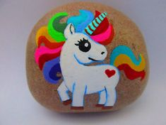 45 Magical Unicorn Rock Painting Ideas & Tutorials That Will Blow Your Mind! : rock painting ideas with unicorns Unicorn Painting, Unicorn Drawing, Rainbow Painting, Unicorn Art, Magical Unicorn, Rock Painting Ideas Easy, Rock Painting Designs, Painting For Kids, Pebble Painting