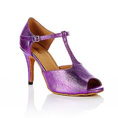 SALE! Purple T-bar dance shoes by vivazdance on Etsy