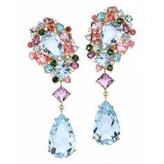 (via Brumani pastel rhinestone earrings | ❤ Pastel Passion ❤)