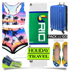 """""""Pack and Go: Rio"""" by dolly-valkyrie ❤ liked on Polyvore featuring Ralph Lauren, Royce Leather and rio"""