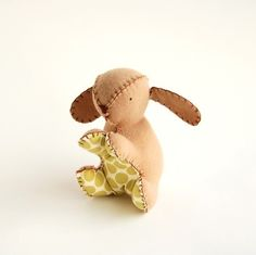 Bunny Stuffed Toy by tinywarbler on Etsy