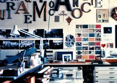 Great wall decoration - Shot from the Office space of Ray and Charles Eames Charles Eames, Ray Charles, Scientific American Magazine, Office Workspace, Mid Century Modern Design, Modern Graphic Design, The Office, Interior And Exterior, Interior Design