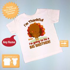 Turkey Big Brother Shirt Thanksgiving by ThingsVerySpecial on Etsy